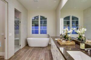 Bathroom sink bathtub design in San Diego, CA