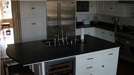 Permanent black tile stone sealing in San Diego, CA