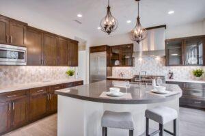 Silestone kitchen black countertop design in San Diego, CA