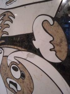 Inlay close-up