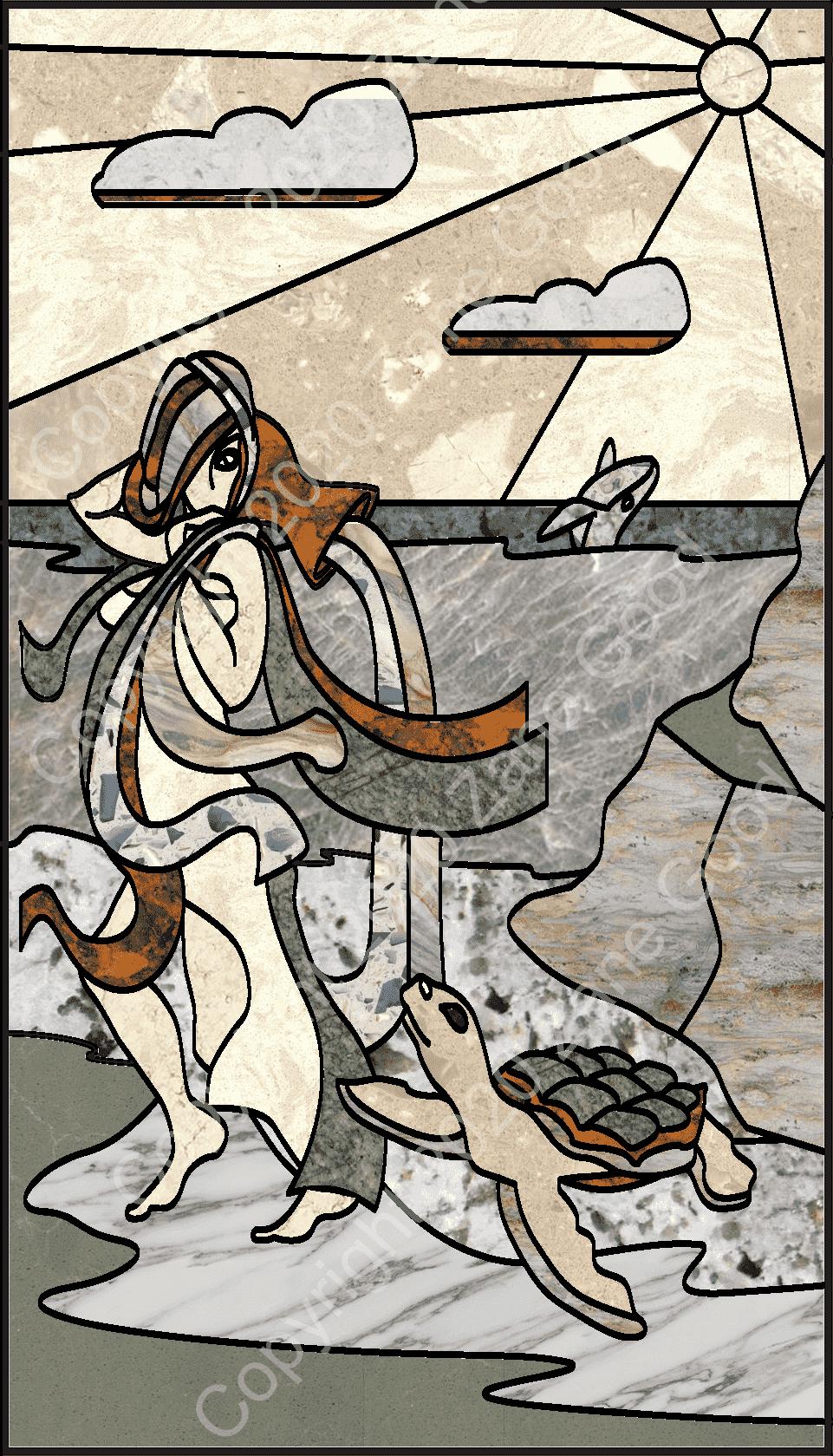 Custom Water Maiden Art Inlay pic