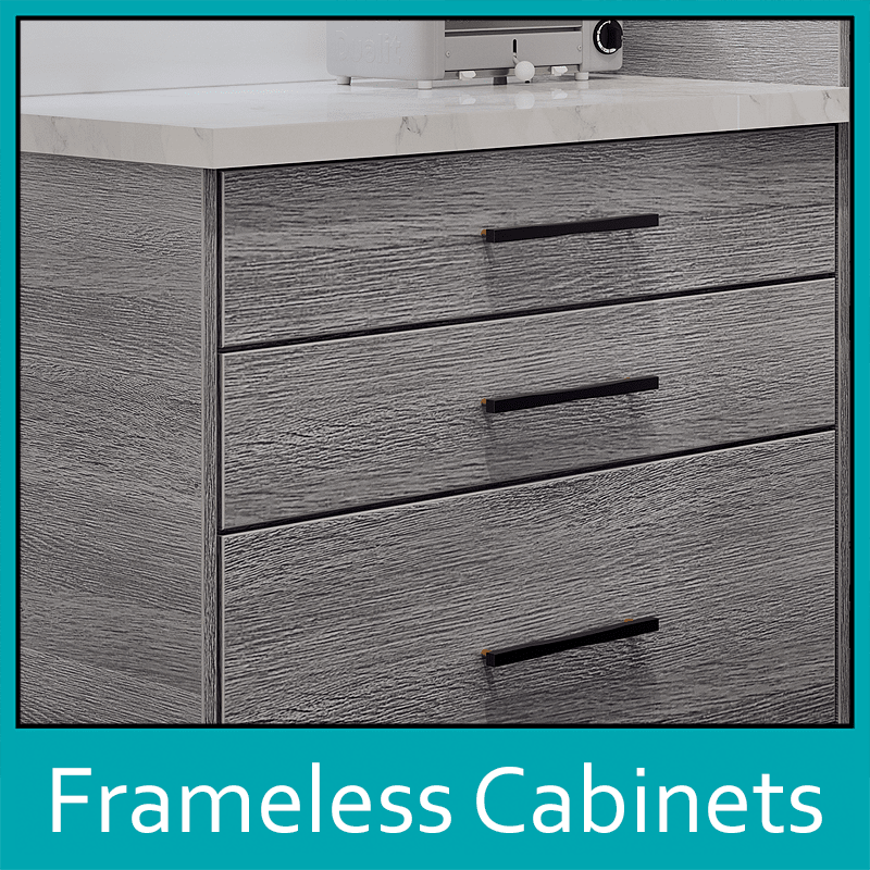 Frameless Cabinets by The Countertop Company