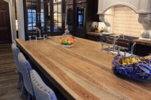 Maple distresses hickory dining table in San Diego, CA
