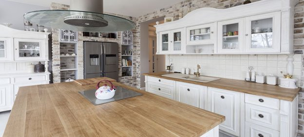 Distressed Hickory Kitchen Island by The Countertop Company